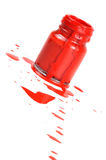 Pintura vermelha Imagens de Stock Royalty Free