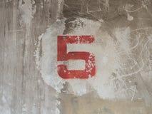 Pintura vermelha número 5 Imagens de Stock