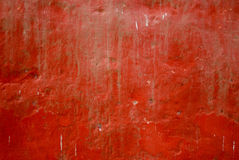 Pintura vermelha na parede Fotografia de Stock