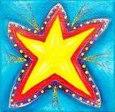 Pintura vibrante de la estrella. fotografía de archivo