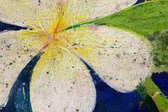 Pintura vieja del Plumeria Fotos de archivo libres de regalías