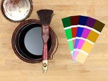 Pintura y adornamiento Foto de archivo libre de regalías