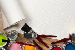 Pintura y adornamiento - espacio para el texto Imagen de archivo