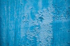 Pintura y madera agrietadas azules, fondo abstracto foto de archivo libre de regalías
