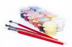 Pintura y pintura del color Fotografía de archivo libre de regalías