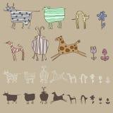 Pinturas abstractas de animales domésticos Ilustración del Vector
