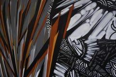 Pinturas abstratas dos grafittis no fundo do muro de cimento fotos de stock royalty free