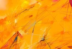 Pinturas al óleo del arte moderno con color amarillo, rojo Arte contemporáneo para el fondo ilustración del vector