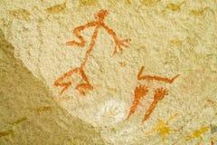 Pinturas antigas dos Petroglyphs imagem de stock
