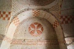 Pinturas antigas em uma igreja da caverna, Cappadocia, Turquia Imagem de Stock Royalty Free