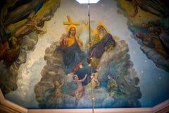 Pinturas bíblicas no templo Bukovina em Ucrânia Imagem de Stock
