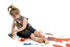 Pinturas bonitos do bebê fotografia de stock royalty free
