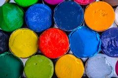 Pinturas coloreadas Imagen de archivo libre de regalías