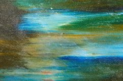 Pinturas coloridos da pintura da aquarela Foto de Stock Royalty Free