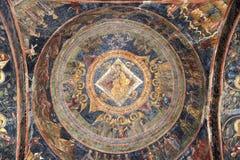Pinturas cristianas en iglesia Imagen de archivo