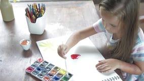 Pinturas da aquarela da pintura do artista da criança filme