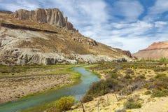 Pinturas da garganta do rio, Argentina imagens de stock