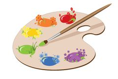 Pinturas da mola Imagem de Stock