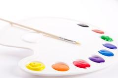 Pinturas da pintura à têmpera foto de stock