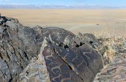Pinturas da rocha Fotos de Stock