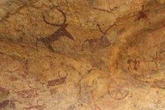Pinturas da rocha de Bundi Foto de Stock
