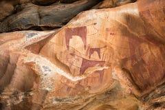 Pinturas da rocha de Laas Geel, petroglyphs, pinturas murais imagem de stock