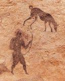 Pinturas da rocha de Tassili N'Ajjer, Argélia Fotografia de Stock
