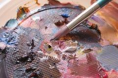 Pinturas de óleo Fotografia de Stock