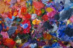 pinturas de óleo misturadas da textura em cores diferentes fotos de stock