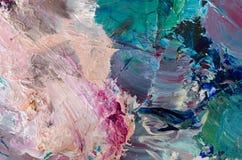 Pinturas de óleo na paleta Fundo abstrato da pintura imagens de stock royalty free