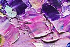 Pinturas de aceite mezcladas Foto de archivo