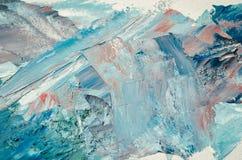 pinturas de aceite mezcladas de la textura en diversos colores fotos de archivo libres de regalías