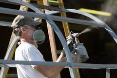 Hombre del pintor del aerosol Imagenes de archivo