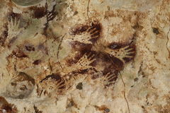 Pinturas de caverna Imagens de Stock