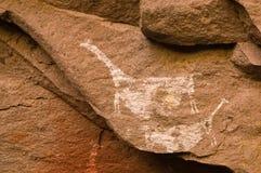 Pinturas de caverna antigas no Patagonia Imagens de Stock Royalty Free