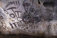 Pinturas de caverna velhas fotos de stock royalty free