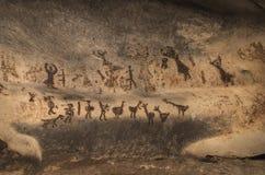 Pinturas de caverna velhas imagens de stock royalty free