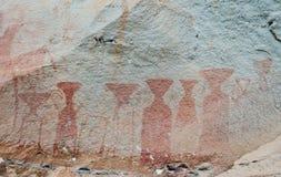 Pinturas de cuevas antiguas en Tailandia Imagen de archivo libre de regalías