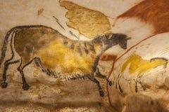 Pinturas de cuevas de Lascaux Imágenes de archivo libres de regalías