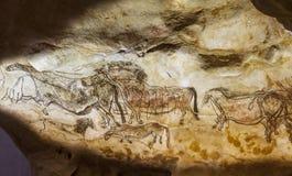Pinturas de cuevas de Lascaux Fotos de archivo libres de regalías