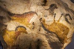 Pinturas de cuevas de Lascaux foto de archivo