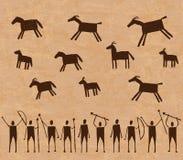 Pinturas de cuevas prehistóricas Foto de archivo libre de regalías