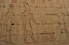Pinturas de Egipto antiguo Fotos de archivo libres de regalías