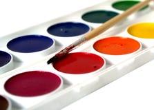 Pinturas de la acuarela aisladas Imagen de archivo libre de regalías