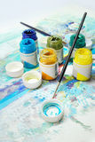 Pinturas de la gouache Imágenes de archivo libres de regalías