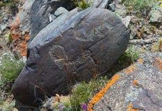 Pinturas de la roca imagen de archivo libre de regalías
