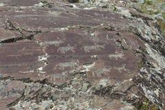 Pinturas de la roca foto de archivo libre de regalías