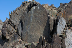 Pinturas de la roca imágenes de archivo libres de regalías