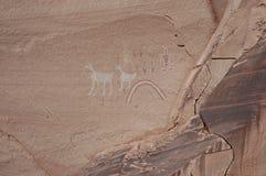 Pinturas de la roca de Navajo Imagen de archivo libre de regalías