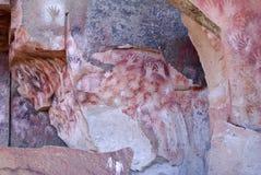 Pinturas de la roca en Patagonia Imágenes de archivo libres de regalías